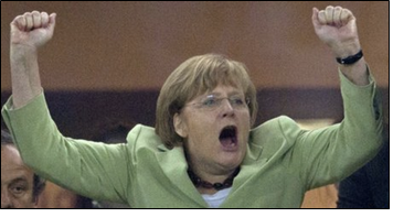 """""""Campaign Strategy"""" - Angela Merkel at a press interview, August 9, 2013"""